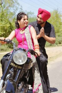 Punjabi Couple on Bullet Facebook Dp