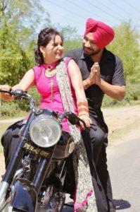 Punjabi Couple on Bullet Facebook Dp