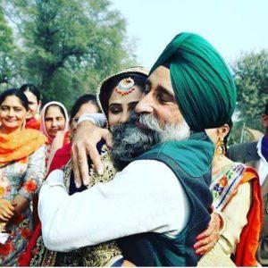 punjabi girl bride marriage pic