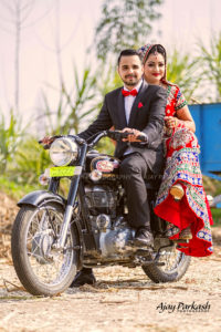 Att punjabi Couple on bullet
