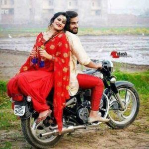 Cute Punjabi Couple on bullet