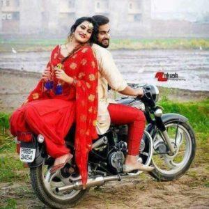 Cute Punjabi Couple on bullet
